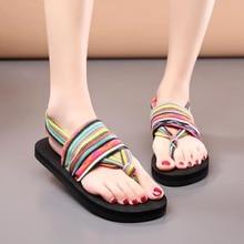 CoolFar Free shipping fashion comfort girls Bohemia flat flip flops Dress shoes,rubber sandals beach shoes female sandals sexy