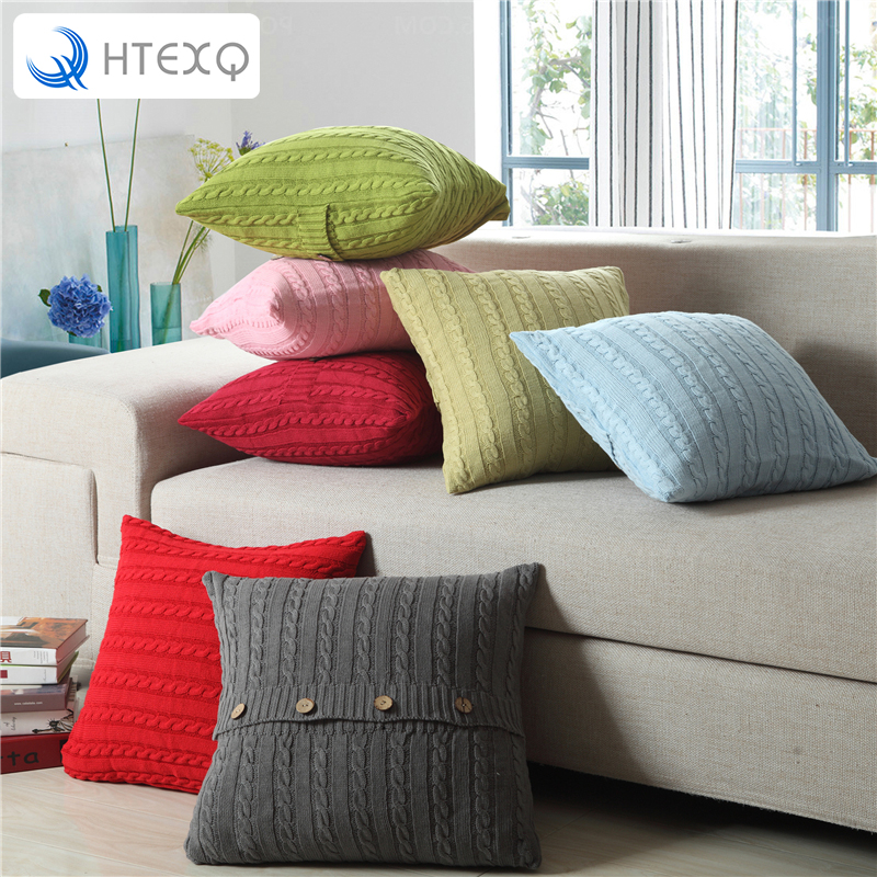 11 Kinds of color Cushion Faux Knitting Home Decorative Hand Made Pillow Case Cushion Cover For