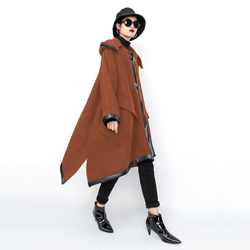 ARCSINX talla grande chaqueta mujer 5XL 10XL 9XL 8XL 7XL chaqueta con capucha Otoño Invierno para mujer abrigo largo mujer moda chaquetas de las mujeres-in chaquetas básicas from Ropa de mujer    2