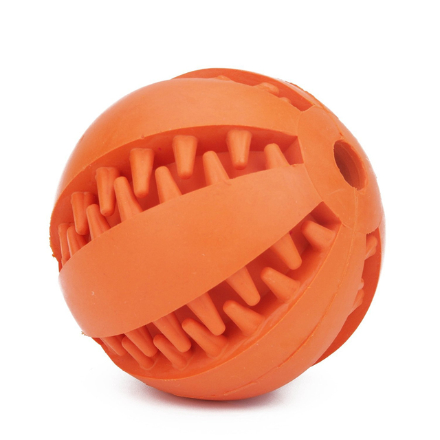 Interactive Pet Soft Dog Treat Chew Toy Ball with Extra-tough Rubber 4