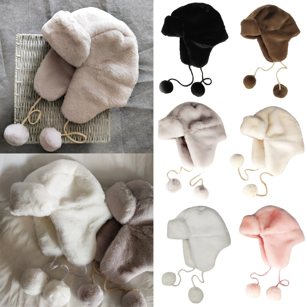 Women'slei feng hat outdoor ski waterproof warm winter earmuff protection earmuff ball warm hat female lei feng hat