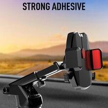 Автомобильный телескопический кронштейн на присоске, Кронштейн для мобильного телефона, навигационный кронштейн, держатель для мобильного телефона, подставка для приборной панели, авто сотовая поддержка