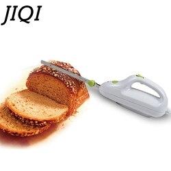 Jiqi lâmina de faca aço inoxidável máquina corte pão handheld cortador brinde cozinha mini elétrico freeze congelado carne slicer ue