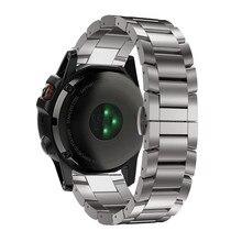 Advanced 2017 New  Fashion New Titanium Steel Bracelet Wrist Strap Smart Watch Band For Garmin Fenix 5X GPS