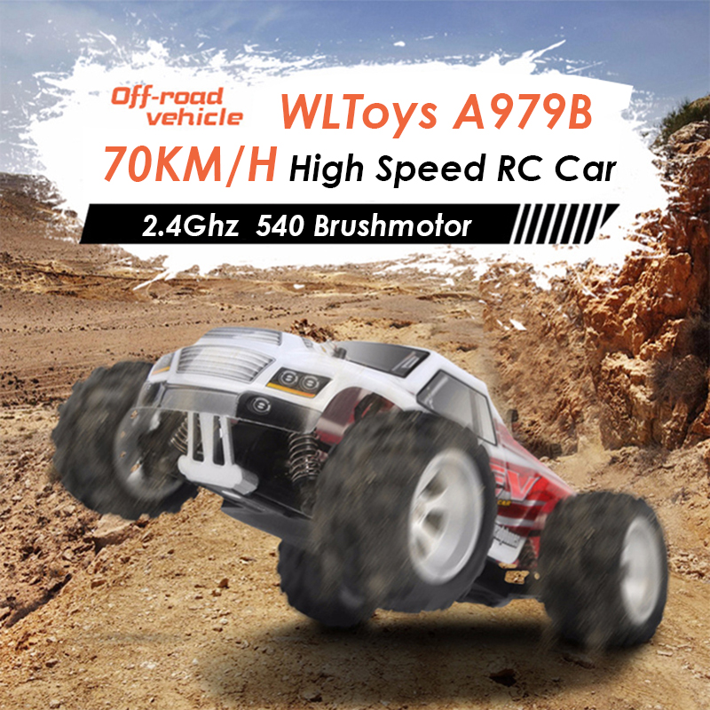 Wltoys A979B RC Car 1:18 4WD 70KM/H High Speed Remote Control Car Radio Control Off-Road Truck RC Drift Car Voiture Telecommande wltoys 12402 rc cars 1 12 4wd remote control drift off road rar high speed bigfoot car short truck radio control racing cars