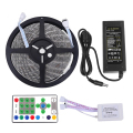 Horse Race LED Strip Waterproof 5M 54led/m SMD5050 DC 12V IR Remote Controller 5A Power Adapter Chasing Dream Color LED Tape