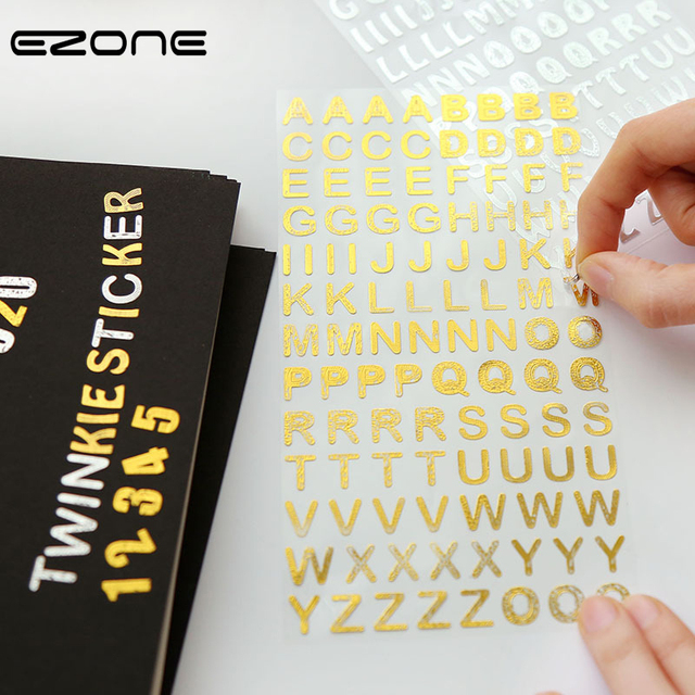 Ezone creativr trends sticker printed cute letters and numbers diy where to get stickers printed