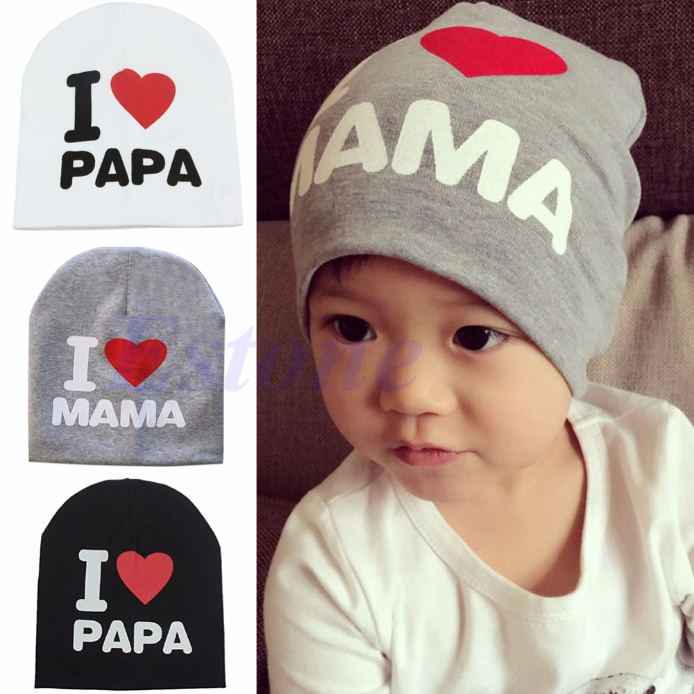 NEW Children Kids Baby Infant Love Boy Girl Cute Soft Warm Hat Cap Cotton Beanie -P101