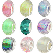 New Arrival Glass Round Faceted Mix Color Charms Beads Fit Pandora Bracelets for Women DIY Jewelry Making Birthday Present(China)