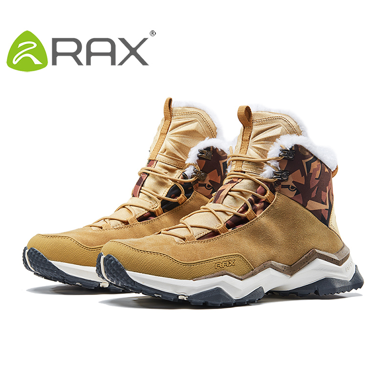 RAX Mens Winter Mountain Trekking Anti-slip ShoesBreathable Comfortable Soft Mountain Shoes Hiking Boots for Professional Men