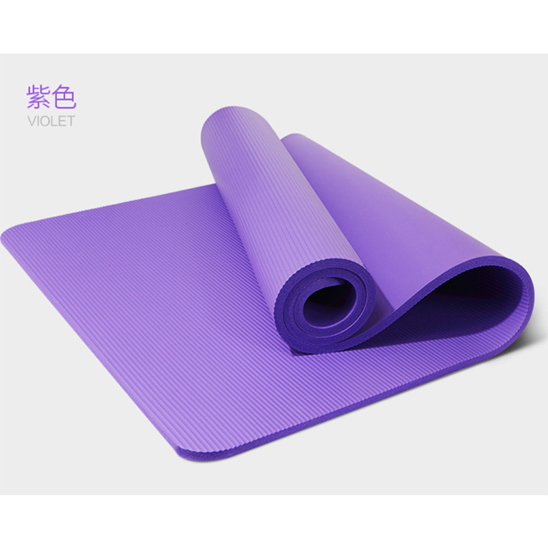 ①  NBR Yoga Mat 10 мм Начинающий Профессиональный Yoga Pad Экологически чистый Нескользящий Фитнес Одея ✔