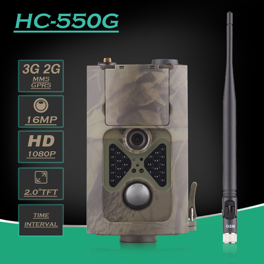 Outdoor Deer Trail Camera Photo Traps Waterproof 16MP Digital Cameras 3G HC-550G WCDMA Hunting Trail Camera HC550G with 24LEDS
