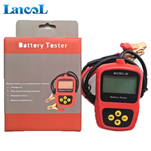 Auto diagnostic tool Motorcycle 12 volt battery load Tester Analyzer Micro-30 with Multi-Language cca battery tester