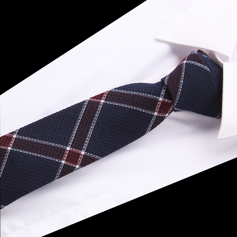 2019 New Collections Mens Casual Cotton Tie 6 Cm Narrow Fashion Neckties Coffee Brown Striped Ties For Men Dropshipping