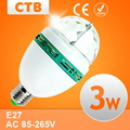 3W AC85-265V New Colourful RGB Led Spotlight Auto Rotating Stage Light For Holiday KTV Bar Disco Party Led Bulb Lamp
