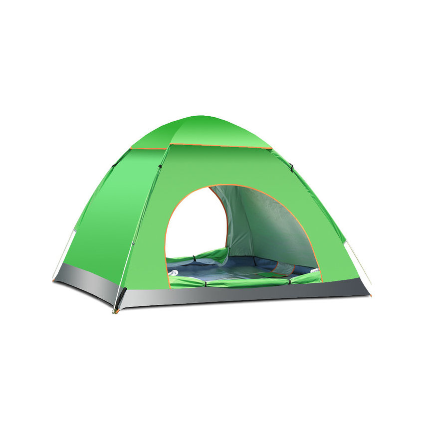 ФОТО 3-4 People Waterproof Automatic Quick Opening Pop Up Camping Tent Single Layers   Travel Mountain Climbing Fishing Camping Tent