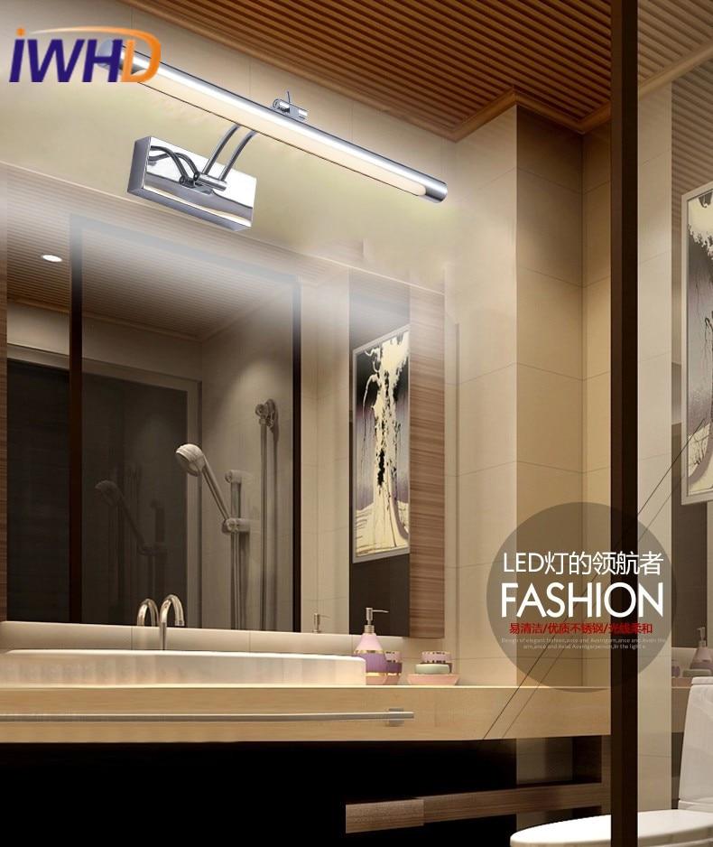 Modern Mirror Light Wall Lamp LED Fashion Silver Waterfool Wall ...