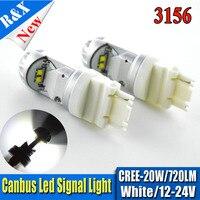 2x T25 20 Вт белый светодиод Фары заднего хода P27W 3156 Canbus Лампы для мотоциклов Парковка лампы lampochka Bombillas Para Кош 12 В 24 В 900lm