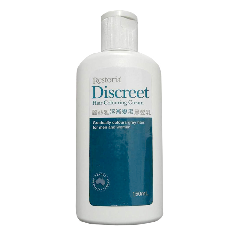 Australia Restoria Discreet Colour Restoring Cream150ml Solution to Colour Grey Hair Dye Colour Conditioner Men Women Haircolour
