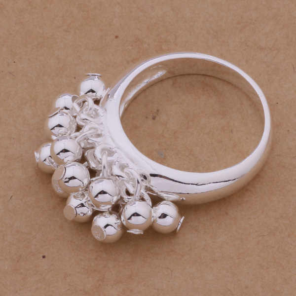 Cute Silver Jewelry Small Ball Ring Gift For Friend AR284