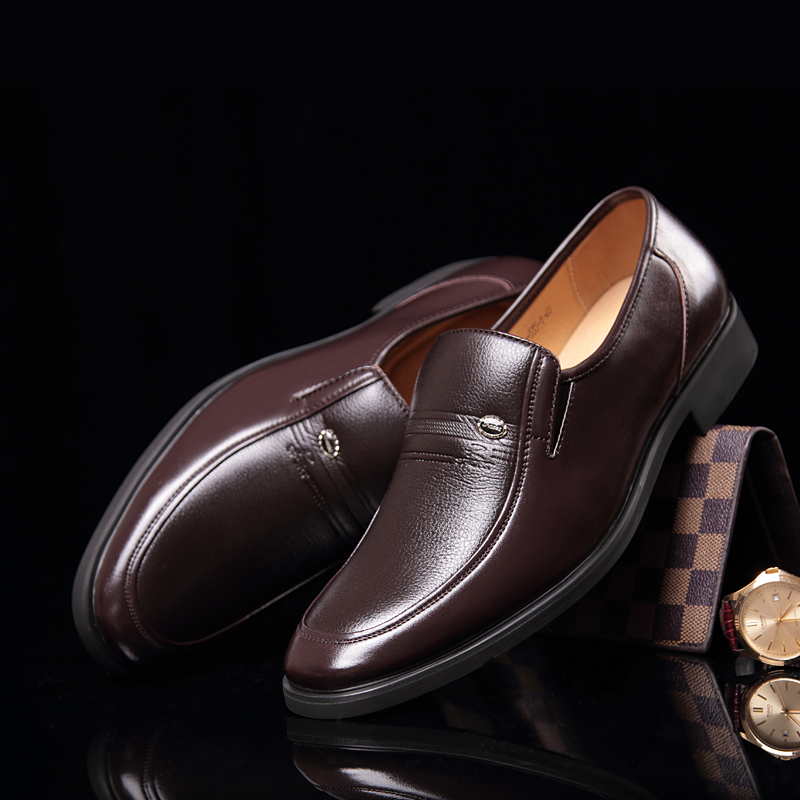OSCO 2018 New Slip On Business Wedding dress Leather Oxford Shoes For Men Casual Shoes Pointed Toe Men Formal Shoes стоимость