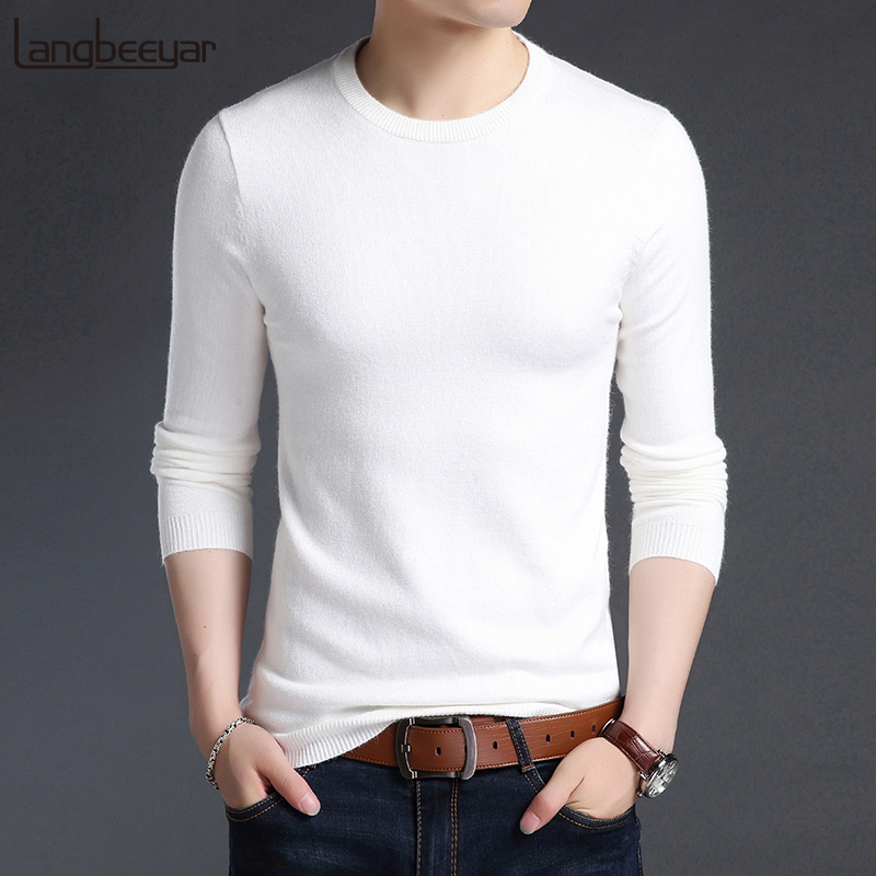 2019 New Fashion Brand Sweater For Mens Pullover Woolen Slim Fit Jumpers Knitred O-Neck Autumn Korean Style Casual Men Clothes