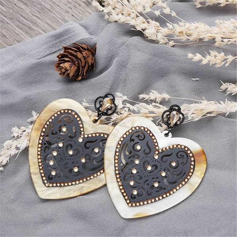 Earings Acrylic Round Earrings For Women New Fashion Design Earring Female Boucle D'oreille Oorbellen 2018 Orecchini Brincos