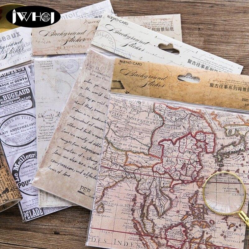 Aliexpress.com : Buy 8 Sheets/bag Vintage Stamp Sticker