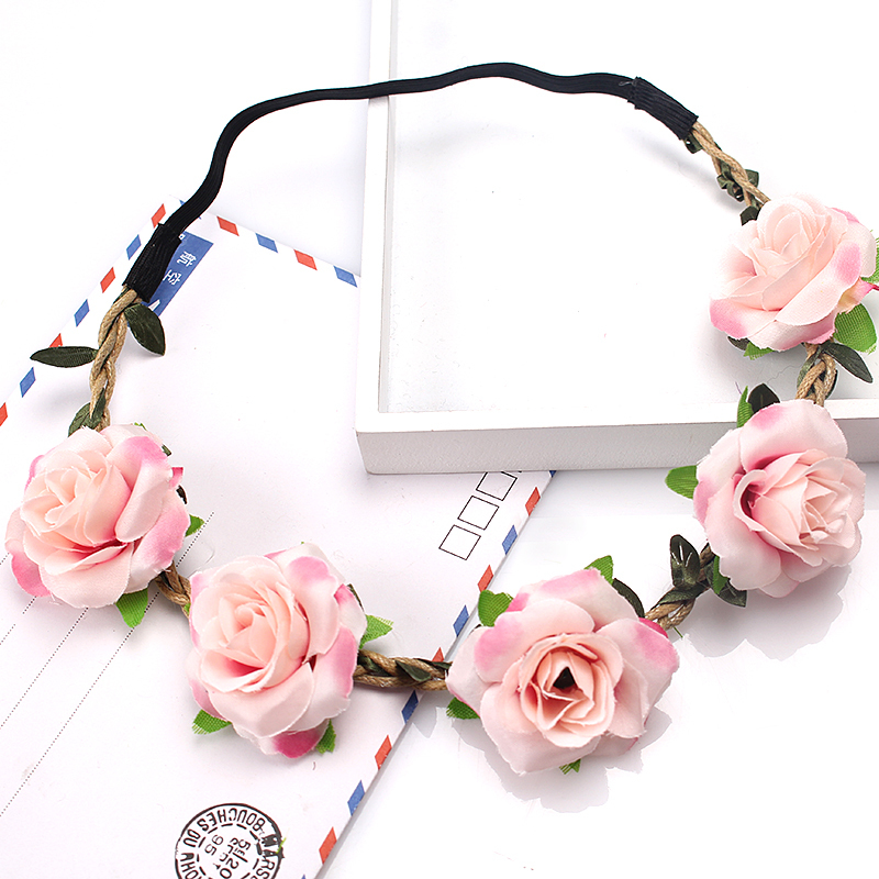 Apparel Accessories Wedding Headband For Women Hair Accessories Girls Flower Crown Headdress Scrunchies Bezel Tiara Wreath Garland Headpiece Wianek
