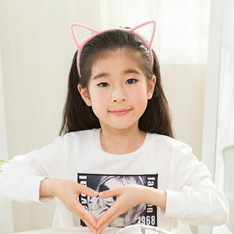 1 pcs น่ารักแมวหู Headband เกาหลีใหม่ปีศาจขนาดเล็ก Headdress Hairpin ผม Hoop Pinstripe Cathead Headwear อุปกรณ์เสริม P0120