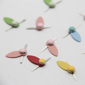 Новый смешанный узор круглые металлические вращающиеся брады для DIY фотоальбома Скрапбукинг ремесла Декор пуговицы для украшения застежка 60 шт