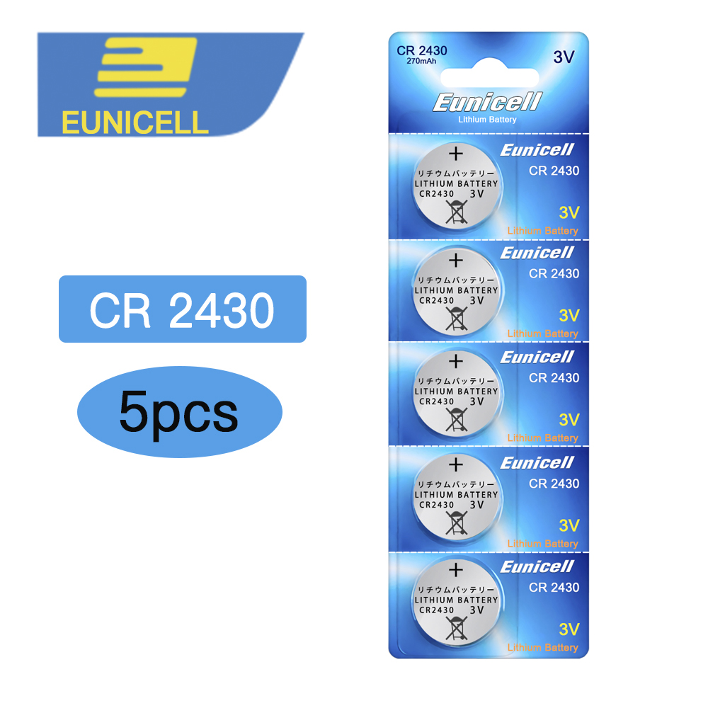 5pcs Bateria CR2430 3V Lithium Battery DL2430 ECR1620 5011LC KCR2430 L20 Button Cell Coin Battery For Watch Toy Remote Batteries