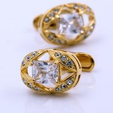 Francês kflk jóias para marca masculina camisas abotoaduras abotoaduras de ouro botões de casamento por atacado alta qualidade frete grátis