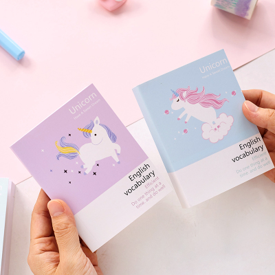 Kawaii Cute Unicorn Notebook Word Exercise Book English Vocabulary School Notebooks For Students essential english for foreign students book 3