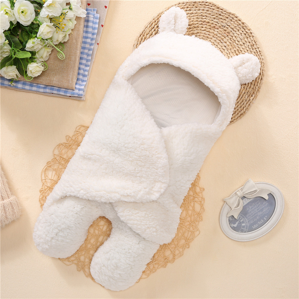 Baby Blanket Newborn Baby Swaddle Wrap Soft Winter Baby Bedding Receiving Blanket Manta Bebes Sleeping Bag 0-12M Newborns