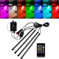12V Car 5050 RGB LED Strip Light Music Control LED Strip Lights 8 Colors Atmosphere Lamps