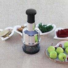 1pcs Stainless Steel Vegetable Onion-Hand Chopper Cutter Presses Hand Pressure Fruit Salad Onion Peeler Kitchen Tool
