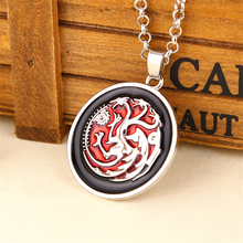 Colorful Pendant Necklace with Game of Thrones Themed Pendant