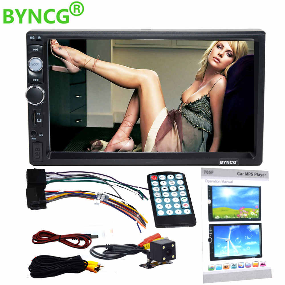"Byncg 2 Din Auto Radio 7 ""Hd Speler MP5 Touch Screen Digitale Display Bluetooth Multimedia Usb 2din Autoradio Auto backup Monitor"