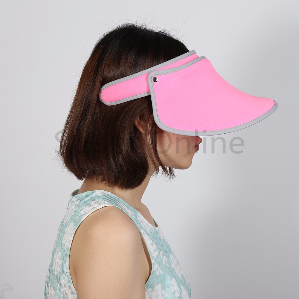 f993e33ead3 Summer Beach Women Sunshade Cap Brim Wide Visor Hat Outdoor Sports Foldable  UV Protection-in Running Caps from Sports   Entertainment on Aliexpress.com  ...