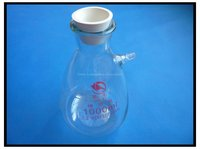 1000ml Buchner Filter Flask, Heavy Wall, Borosilicate Glass Material, with Matching Rubber Adapter