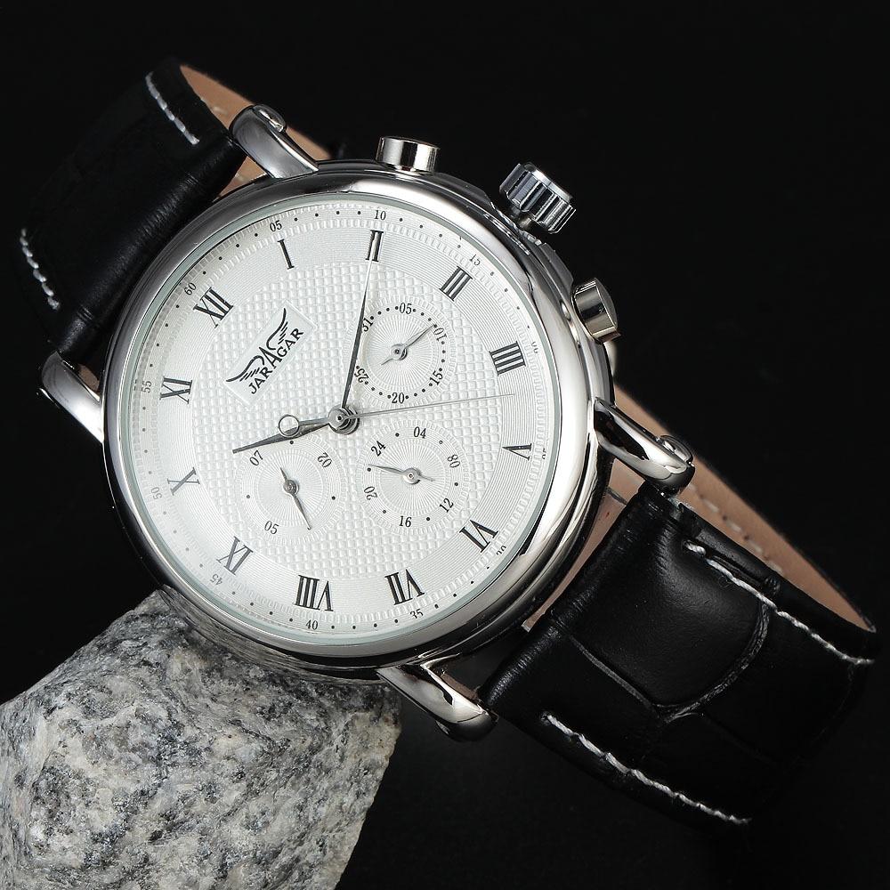 Nueva JARAGAR Moda Mecánica Automática Vestido de Hombre Relojes - Relojes para hombres - foto 4