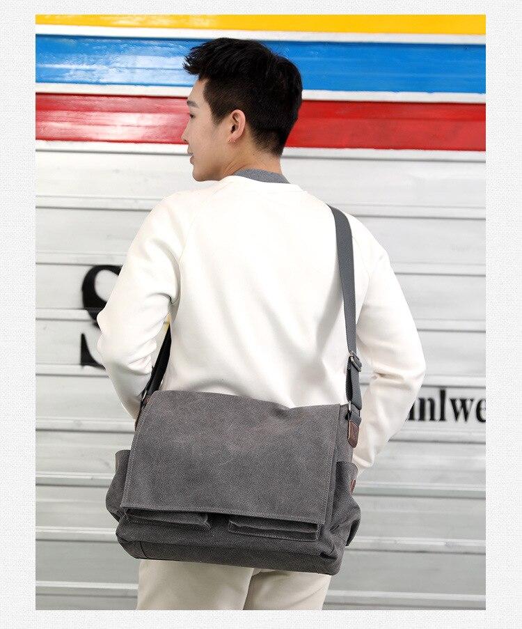 HTB1pyeabyYrK1Rjy0Fdq6ACvVXap 2019 Brand Designer Men's Briefcase Canvas Crossbody Bags for men 14 Inch Laptop Shoulder Bags Buisness Office Men Messenger Bag