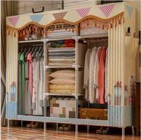 Шкаф нетканые ткани складной ткани Уорд сборки хранения гардероб большой Размеры подкрепление Комбинации Бесплатная доставка