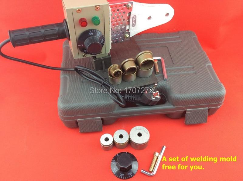 Envío gratuito 20-32mm máquina de fusión en caliente de control de temperatura, máquina de soldadura ppr, soldador de plástico, envíe el molde de soldadura como regalo