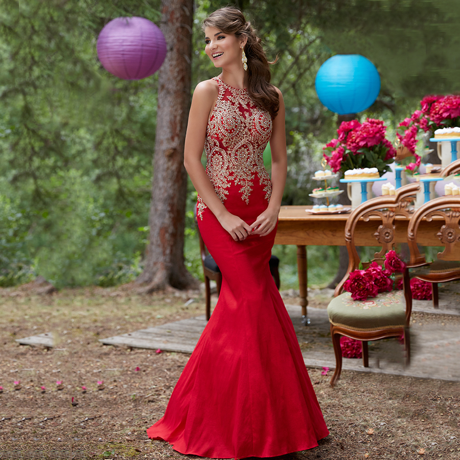 Plus Size Trumpet Prom Dress