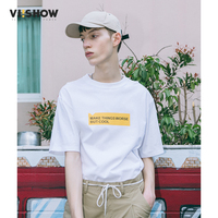 VIISHOW Summer Brand T Shirt 100 Cotton Tops Casual Clothing Short Sleeve T Shirt High Quality