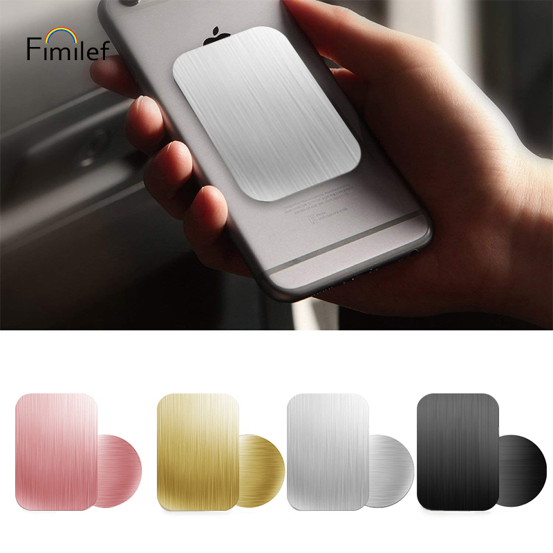 Fimilef Drawing Metal Plate Disk For Magnet Car Phone Holder Iron Sheet Sticker For Magnetic Mobile Phone Holder Car Stand Mount