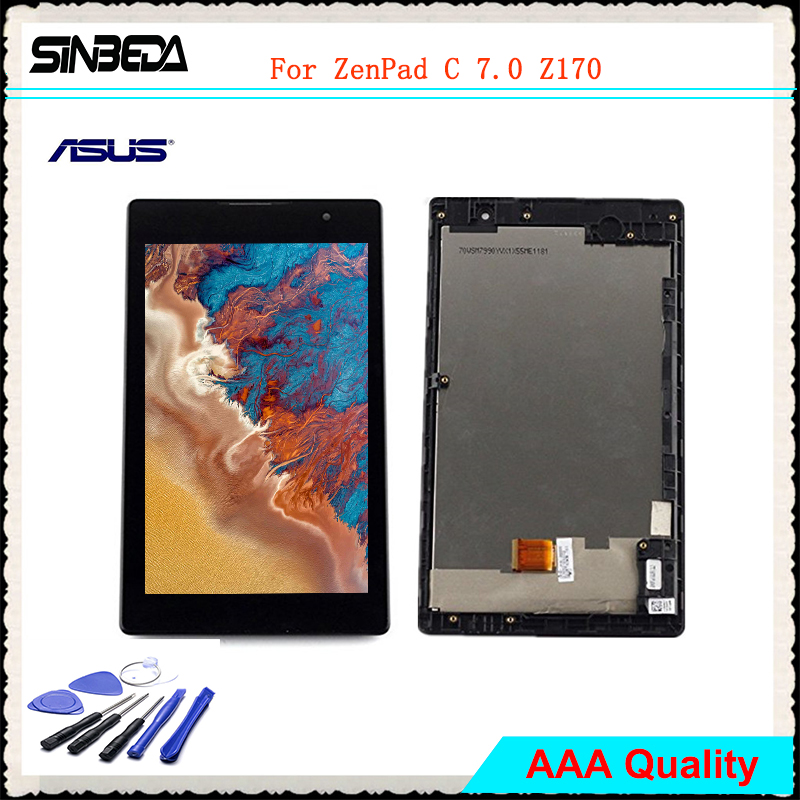 7.0 Original LCD Screen Display For Asus ZenPad C 7.0 Z170 Z170CG Z170MG Touch Screen Digitizer Assembly with Frame