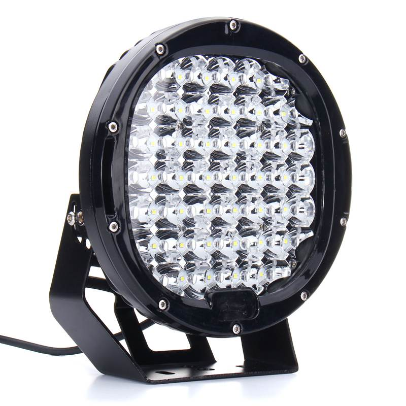9 Inch 225W LED Work Light Spotlight Round LED Offroad Driving Worklight For SUV Off Road Car Truck 4WD DC10-30V 2x cree round led light bar 185w 9inch spot led driving light with mask offroad for jeep ford 4x4 4wd suv buggy camper spotlight